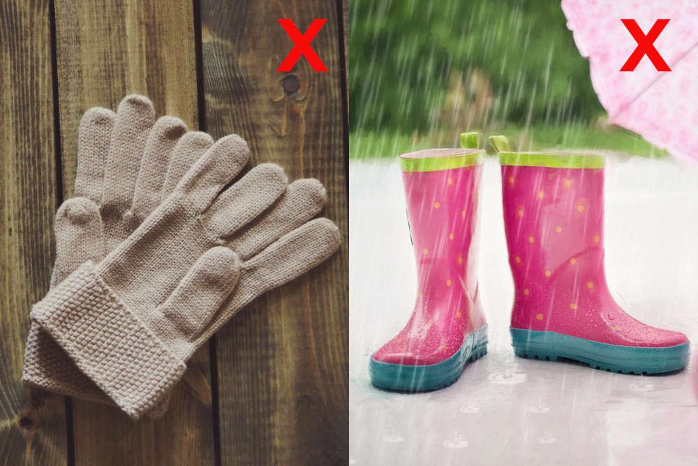 botas de lluvia sirve para la nieve