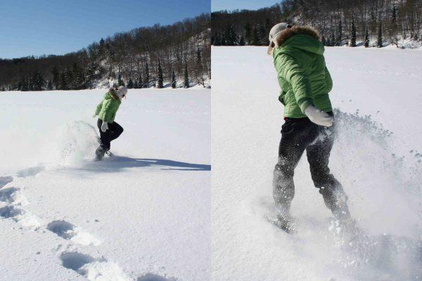 Como andar con raquetas de nieve